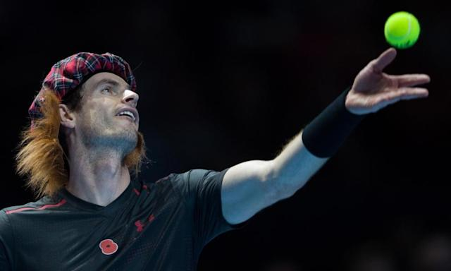 """<span class=""""element-image__caption"""">Andy Murray donned a wig and hat when playing Roger Federer and, though his movement was good, he is unlikely to play in the Davis Cup tie that follows the Australian Open.</span> <span class=""""element-image__credit"""">Photograph: BPI/Rex/Shutterstock</span>"""