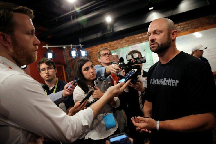 Bo Copley speaks to the media a year ago, after a campaign event for then-Democratic presidential candidate Hillary Clinton in Williamson, W.Va. (Photo: Jim Young/Reuters)