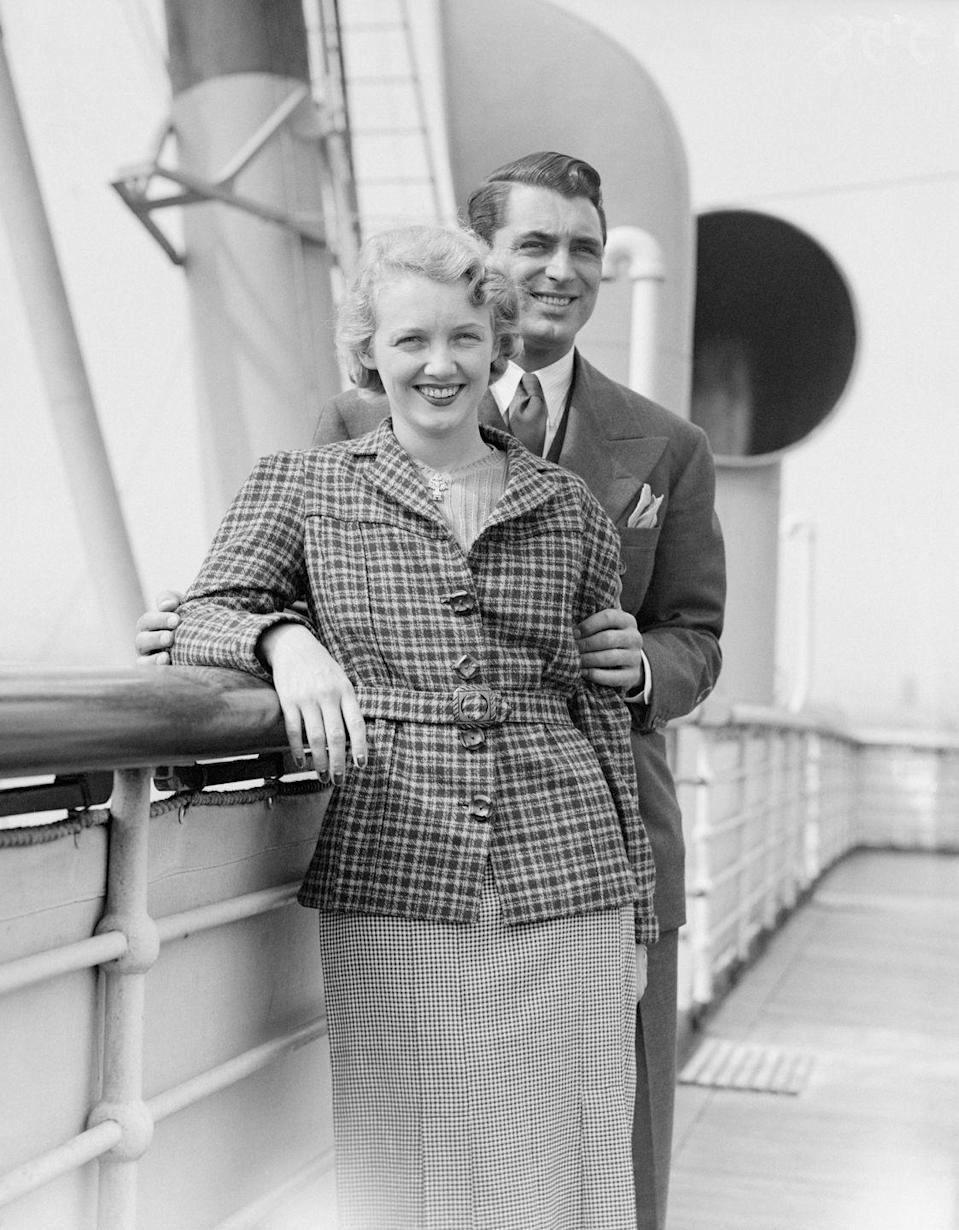 """<p>After meeting at a party, Grant fell hard for silent film star Virginia Cherrill. The two were married in February 1934 and, not even a year later, they separated. The marriage was <a href=""""https://www.independent.co.uk/incoming/obituary-virginia-cherrill-5591220.html"""" rel=""""nofollow noopener"""" target=""""_blank"""" data-ylk=""""slk:legally dissolved"""" class=""""link rapid-noclick-resp"""">legally dissolved</a> in 1935, although <a href=""""https://www.independent.co.uk/incoming/obituary-virginia-cherrill-5591220.html"""" rel=""""nofollow noopener"""" target=""""_blank"""" data-ylk=""""slk:they remained friends for life"""" class=""""link rapid-noclick-resp"""">they remained friends for life</a>.</p>"""