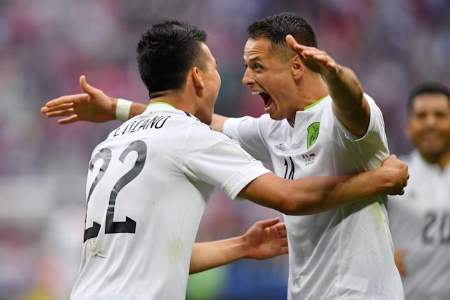 "Javier ""Chicharito"" Hernandez and Hirving ""Chucky"" Lozano will lead Mexico's attack in Group F. (Getty)"