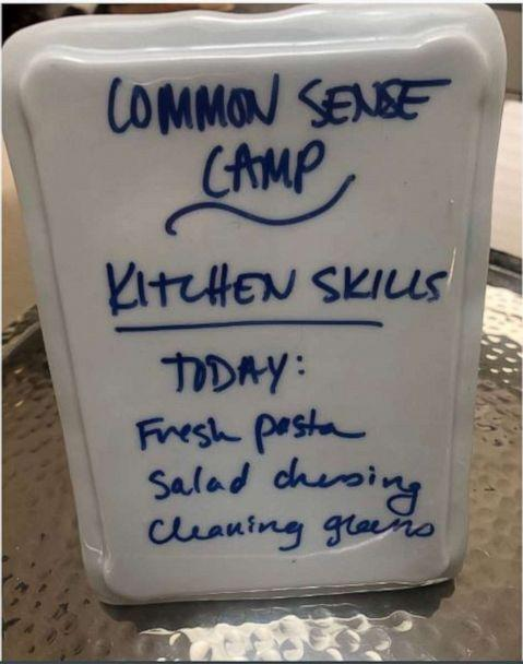 Oona Hanson's 'Common Sense Camp' sign. (Oona Hanson)