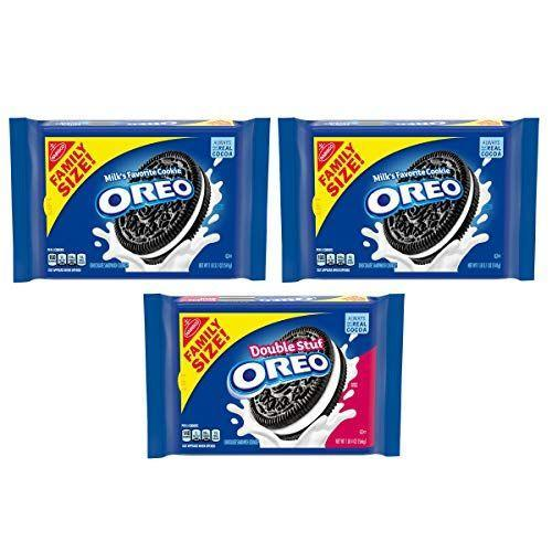"<p><strong>Oreo</strong></p><p>amazon.com</p><p><strong>$12.66</strong></p><p><a href=""https://www.amazon.com/dp/B083K1DDTF?tag=syn-yahoo-20&ascsubtag=%5Bartid%7C2089.g.35651204%5Bsrc%7Cyahoo-us"" rel=""nofollow noopener"" target=""_blank"" data-ylk=""slk:Shop Now"" class=""link rapid-noclick-resp"">Shop Now</a></p><p>Although there's been some controversy about whether or not <a href=""https://www.goodhousekeeping.com/food-products/a47903/are-oreo-cookies-vegan/"" rel=""nofollow noopener"" target=""_blank"" data-ylk=""slk:Oreos are actually vegan"" class=""link rapid-noclick-resp"">Oreos are actually vegan</a>, the general consensus is yes. While they're processed in a plant with dairy ingredients and there may be some milk cross-contact, that isn't really an issue unless you have a milk allergy.</p><p><em>Per 3 cookies: 160 cals, 7 g fat (2 g sat), 135 mg sodium, 25 g carbs, 14 g sugar, 1 g protein. </em></p>"