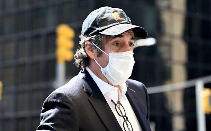 Michael Cohen in New York City on May 21, 2020. / Credit: JOHANNES EISELE/Getty
