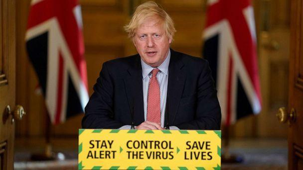 PHOTO: Britain's Prime Minister Boris Johnson holds a daily news conference on the coronavirus disease (COVID-19) outbreak, at 10 Downing Street in London, May 25, 2020. (Andrew Parsons/10 Downing Street via Reuters)