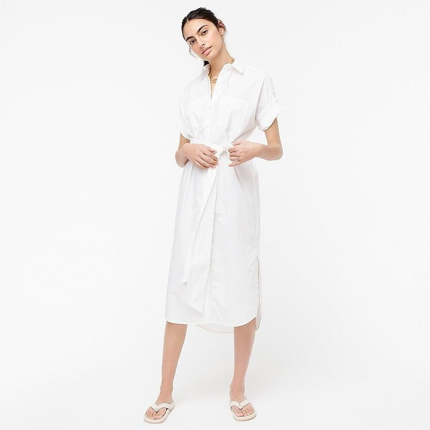 """<br><br><strong>J.Crew</strong> Relaxed-fit short-sleeve cotton poplin shirtdress, $, available at <a href=""""https://go.skimresources.com/?id=30283X879131&url=https%3A%2F%2Fwww.jcrew.com%2Fp%2Fshops%2Fup_to_40_off_summer_styles%2Fdresses%2Frelaxedfit-shortsleeve-cotton-poplin-shirtdress%2FAY840"""" rel=""""nofollow noopener"""" target=""""_blank"""" data-ylk=""""slk:J. Crew"""" class=""""link rapid-noclick-resp"""">J. Crew</a>"""