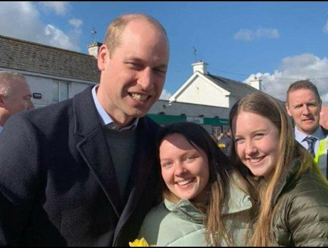 Donna Malone shared these images of her friends with the Duke of Cambridge. (Twitter/Donna Malone)