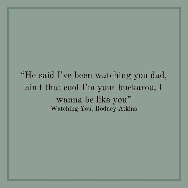 Songs About Dads: Watching You
