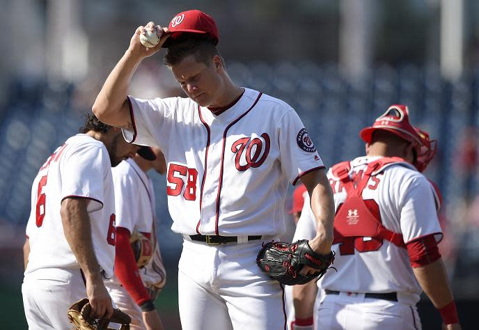Jonathan Papelbon's days with the Washington Nationals appear to be over. (AP)