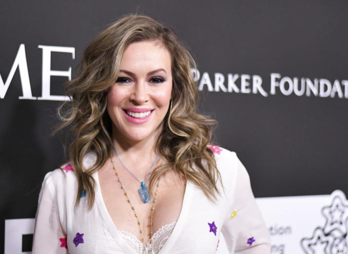 Alyssa Milano (pictured) took to social media to reflect on her relationship with Ivanka Trump.