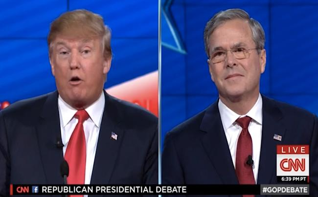Jeb and Trump go at it again: 'Donald, you're not going to be able to insult your way to the ...