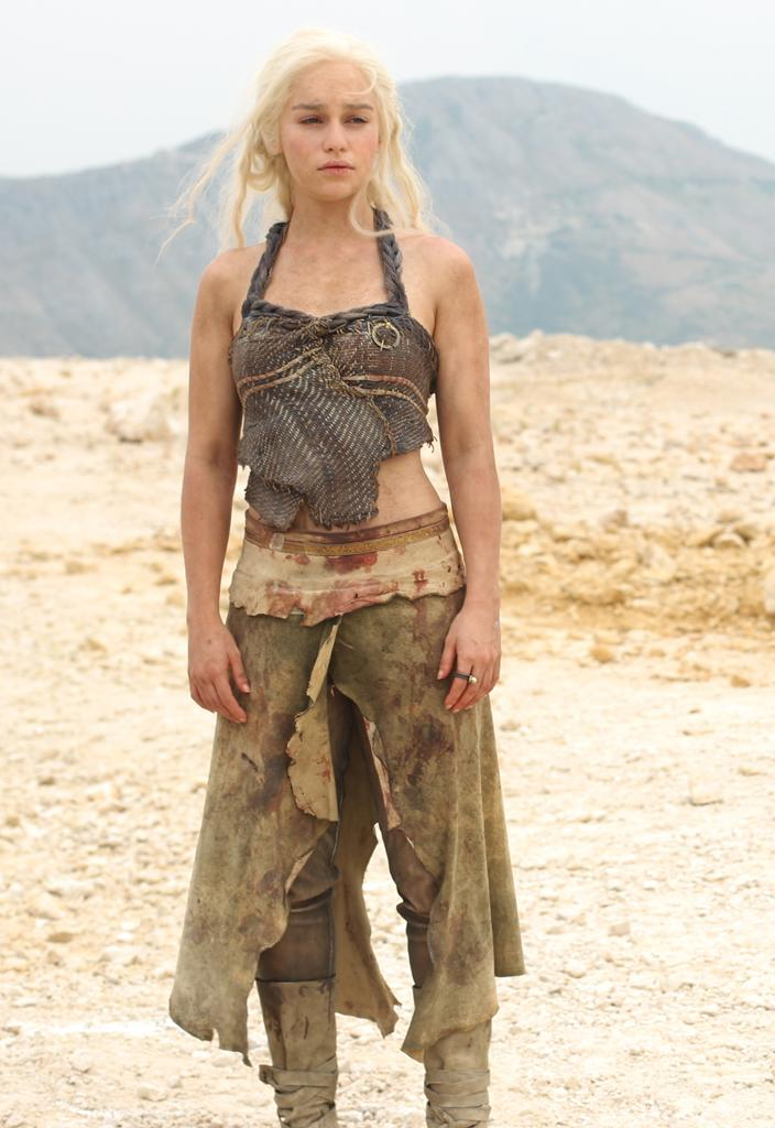 """<b>Daenerys ('<a href=""""http://tv.yahoo.com/game-of-thrones/show/41208"""">Game of Thrones</a>')</b> <br><br>She went from being a meek girl sold into marriage by her greedy brother to leading a tribe of warriors and controlling actual dragons. Oh, and did we mention she could walk in fire and not get burned? We'd follow her into a desert without question."""