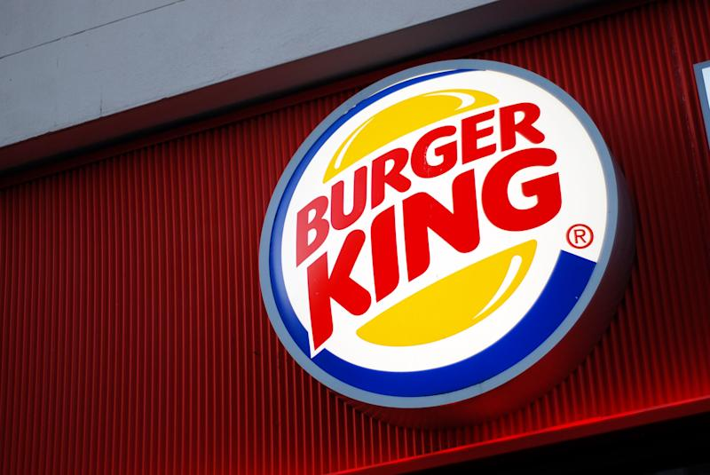 Liverpool, England - March 6, 2011: The sign of Burger King in Liverpool. Burger King is a global chain of hamburger fast food restaurants headquartered in unincorporated Miami-Dade County, Florida, United States.