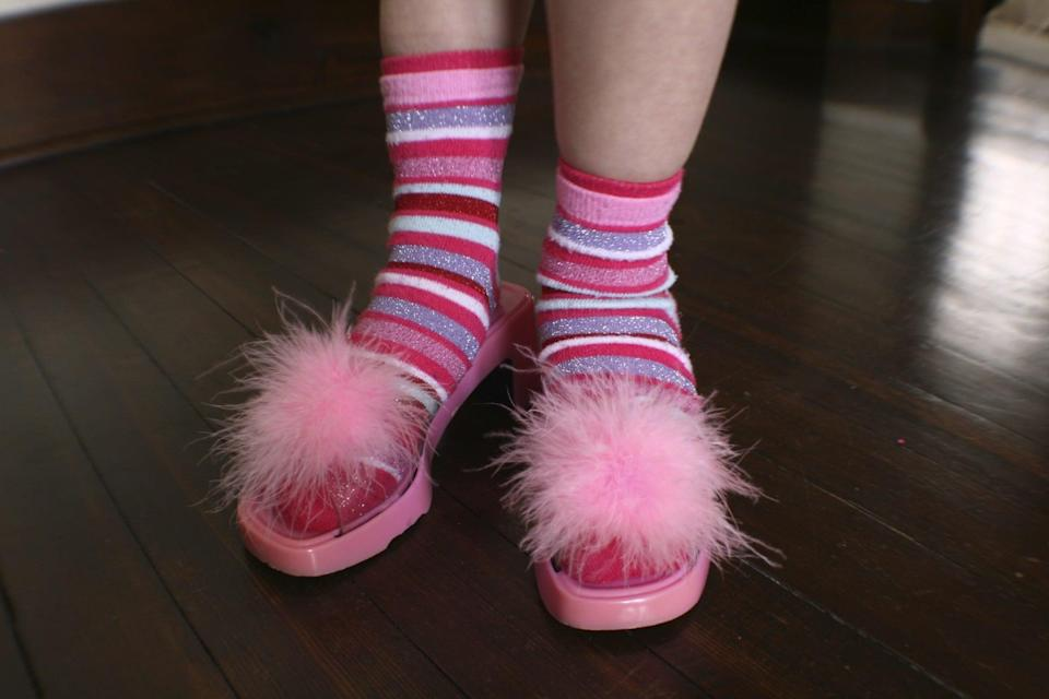 <p>Pull out all the play clothes, along with some of Mom's high heels, Dad's old sporting equipment, and whatever else you can find, and let your kids create the craziest outfits they can imagine. </p>