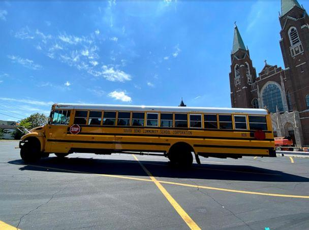 PHOTO: South Bend Community School Corporation deployed 35 buses equipped with Wi-Fi to deliver internet service to students around the city who do not have access. (Monica Leyes/South Bend Community School Corporation)