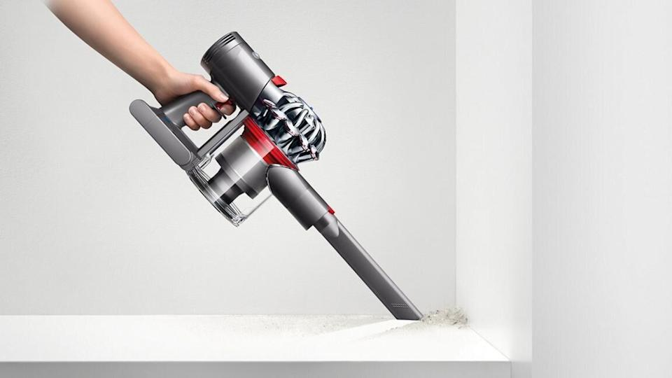 "You usually have to wait for big shopping holidays to see <a href=""https://www.huffpost.com/entry/cyber-monday-dyson-deals-2020-vacuums-air-purifiers-and-hair-tools_l_5fb3faddc5b6f79d601b6913"" target=""_blank"" rel=""noopener noreferrer"">markdowns on Dyson's popular products</a>. And <a href=""https://www.huffpost.com/entry/best-black-friday-2020-vacuum-deals-dyson-hoover_l_5fa98fb8c5b623bfac52a787"" target=""_blank"" rel=""noopener noreferrer"">Dyson vacuums</a> are always a hot-ticket item. Lots of them were on sale during Cyber Week, but this <a href=""https://fave.co/3lwmZ3w"" target=""_blank"" rel=""noopener noreferrer"">cordless Dyson vacuum</a> is still in stock<i> and</i> on sale. It comes with an extra cleaner head for hard floors and is designed to clean any room in the house. <a href=""https://fave.co/33PrJvh"" target=""_blank"" rel=""noopener noreferrer"">Find it on sale for $250 at Dyson</a>."