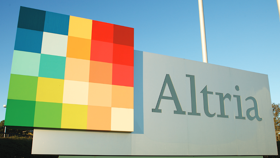 Altria sign with color mosaic.
