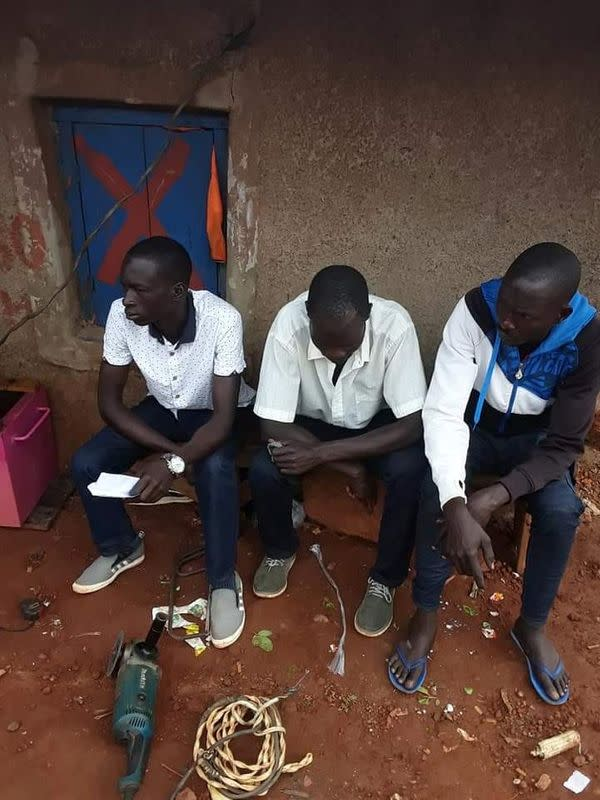 Undated handout photo of former child soldiers from the Lord's Resistance Army (LRA), in Gulu