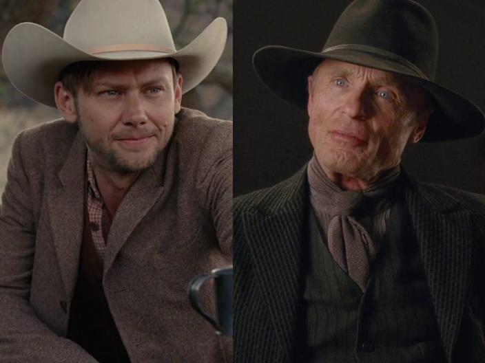 """Jimmi Simpson and Ed Harris play the same character, William, in """"Westworld."""""""