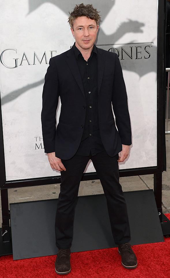 "Aidan Gillen arrives at the premiere of HBO's ""Game of Thrones"" Season 3 at TCL Chinese Theatre on March 18, 2013 in Hollywood, California."