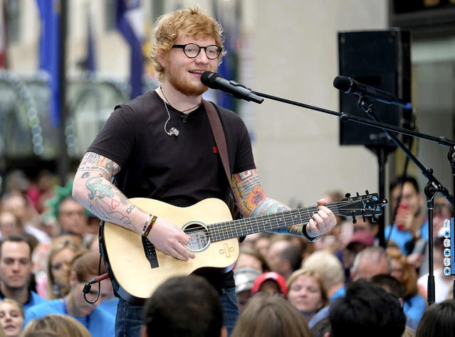 "<p>This was the British star's first No. 1 hit. It logged 12 weeks at No. 1, longer than any other song so far this year. ""Shape of You"" was one of two lead singles from Sheeran's third album. (The other, ""Castle on the Hill,"" ranks No. 21 on this tally.) <a href=""https://www.youtube.com/watch?v=JGwWNGJdvx8"" rel=""nofollow noopener"" target=""_blank"" data-ylk=""slk:LISTEN HERE"" class=""link rapid-noclick-resp""><strong>LISTEN HERE</strong></a>.<br>(Photo: Charles Sykes/Invision/AP) </p>"