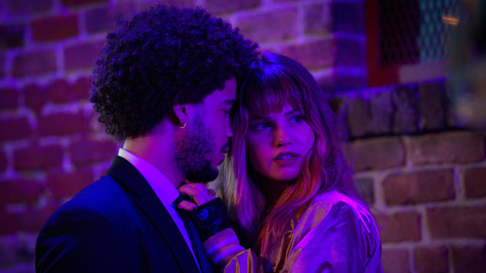 'Night Teeth' follows a college student who unwittingly picks up vampires in his car. (Kat Marcinowski/Netflix)