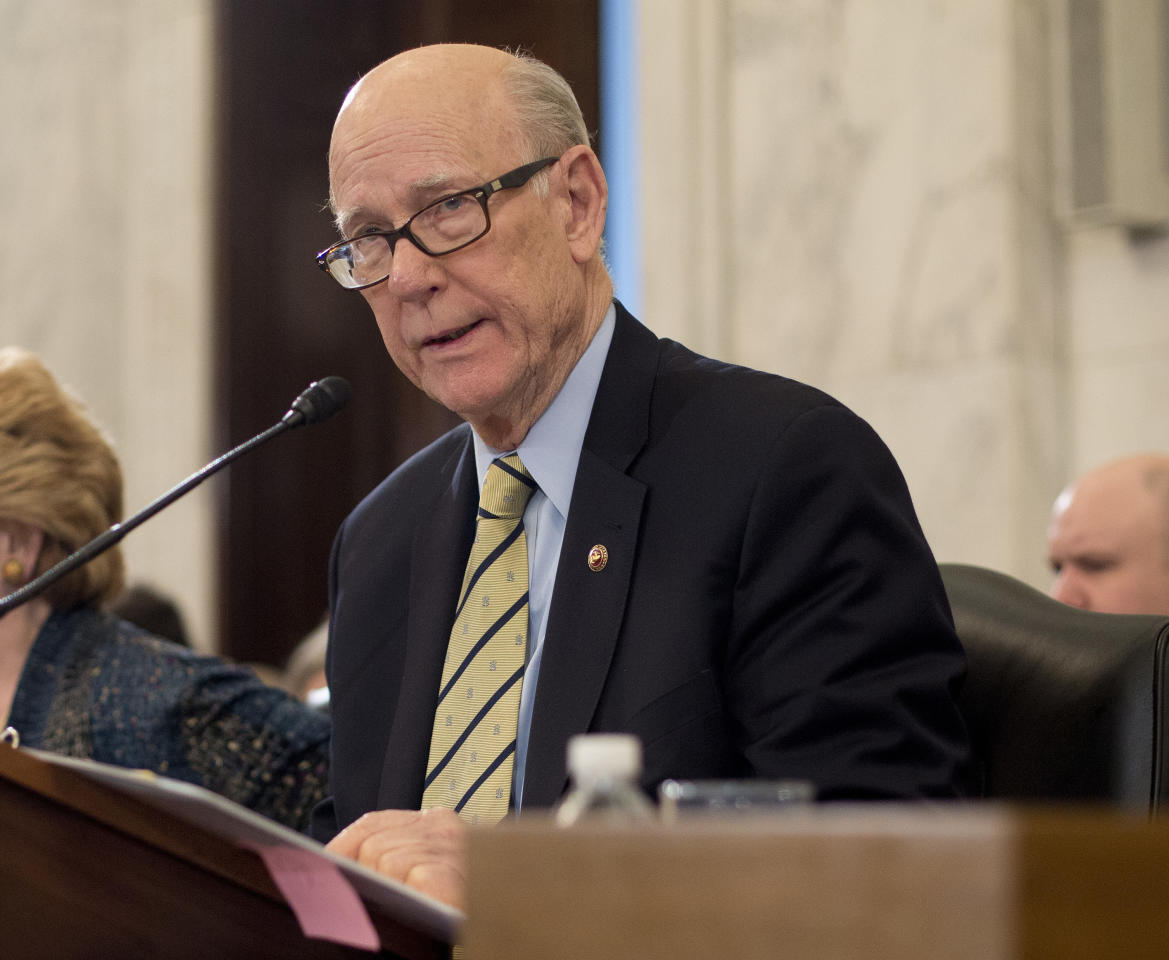 "<p> FILE - In this March 23, 2017, file photo, Sen. Pat Roberts, R-Kan., speaks on Capitol Hill in Washington. Senate Republicans' struggle to pass a health care bill is jeopardizing another one of President Donald Trump's top priorities: overhauling America's tax system. A day after Senate Majority Leader Mitch McConnell, R-Ky., delayed a vote on a bill to scrap much of Democrat Barack Obama's health law, questions lingered about whether congressional Republicans could pass big, complicated pieces of legislation. ""The whole idea is to do health care first because you gain an advantage there to go on and do tax reform,"" said Roberts. ""We've sort of bollixed that up but I'm encouraged."" (AP Photo/Pablo Martinez Monsivais) </p>"