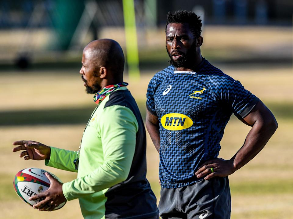 Mzwandile Stick and Siya Kolisi have side-stepped the opportunity to engage in mind games before the first Test (Getty Images)