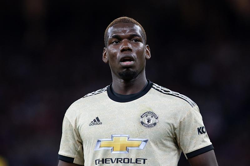 PERTH, AUSTRALIA - JULY 13: Manchester United midfielder Paul Pogba (6) during the International soccer match between Manchester United and Perth Glory on July 13, 2019 at Optus Stadium in Perth, Australia. (Photo by Speed Media/Icon Sportswire via Getty Images)