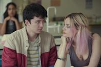 """<p>When the son of a sex therapist, Otis (played by Asa Butterfield), decides to start an underground sex therapy clinic with one of the most well-versed girls in school, he uses his own personal knowledge to help people with their relationships and ultimately helps himself overcome his own sexual frustrations.</p> <p><a href=""""https://www.netflix.com/title/80197526"""" class=""""link rapid-noclick-resp"""" rel=""""nofollow noopener"""" target=""""_blank"""" data-ylk=""""slk:Watch Sex Education on Netflix now"""">Watch <strong>Sex Education</strong> on Netflix now</a>. </p>"""