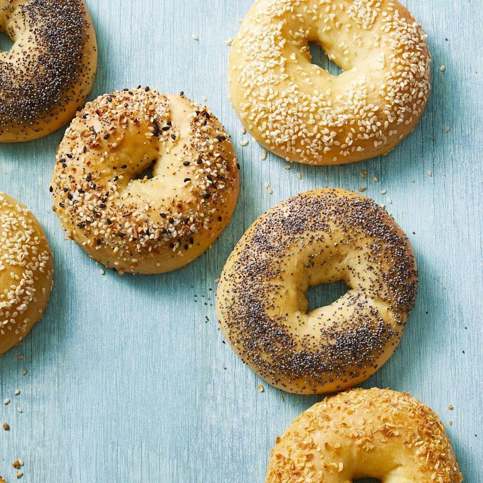 """<p>Serve her favorite bagel up with some bacon and eggs, and your day is set. <strong><em><br></em></strong></p><p><strong><em><a href=""""https://www.womansday.com/food-recipes/a33575387/three-ingredient-bagels-recipe/"""" rel=""""nofollow noopener"""" target=""""_blank"""" data-ylk=""""slk:Get the Three-Ingredient Bagels recipe."""" class=""""link rapid-noclick-resp"""">Get the Three-Ingredient Bagels recipe. </a></em></strong></p>"""