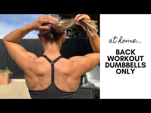 """<p>Perform each of these exercises for 15 reps, followed by 30-60 seconds rest after each one. Do two sets total to build your strongest back yet.<strong><br></strong></p><p><strong>Location: </strong>Home (Dumbbells needed) </p><p><a href=""""https://www.youtube.com/watch?v=NPj7r6K7ykM&ab_channel=CarolineGirvan"""" rel=""""nofollow noopener"""" target=""""_blank"""" data-ylk=""""slk:See the original post on Youtube"""" class=""""link rapid-noclick-resp"""">See the original post on Youtube</a></p>"""