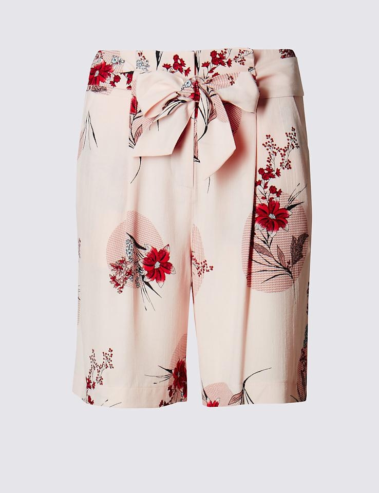 "<p>Look pretty in pink in these stunning floral shorts. [<i><a href=""http://www.marksandspencer.com/floral-belted-shorts/p/p22447361?prevPage=plp#"">M&S, £22.50]</a></i></p>"