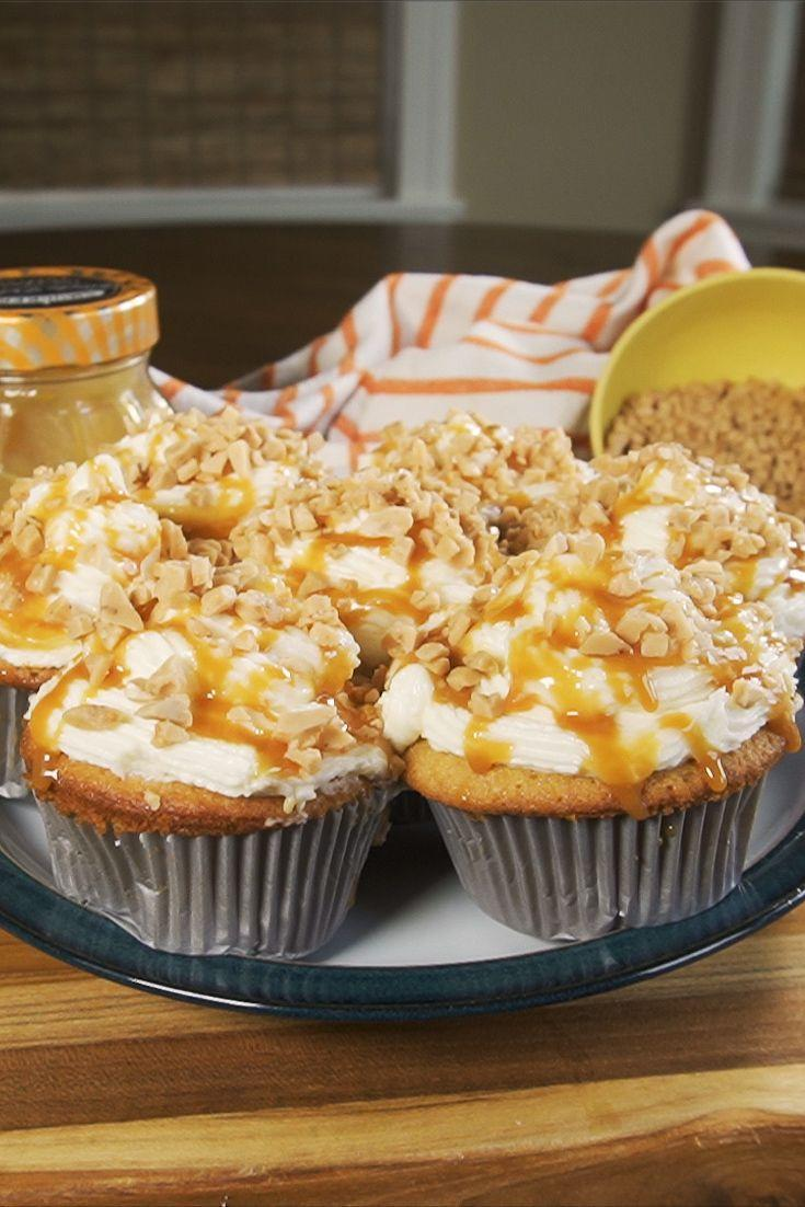 "<p>Taking a basic vanilla sponge range, we've added salted caramel sauce for a delicious taste, not forgetting that buttercream icing of course - topped with toffee... YUM!</p><p>Get the <a href=""https://www.delish.com/uk/cooking/recipes/a34493947/salted-caramel-cupcakes/"" rel=""nofollow noopener"" target=""_blank"" data-ylk=""slk:Salted Caramel Cupcakes"" class=""link rapid-noclick-resp"">Salted Caramel Cupcakes</a> recipe.</p>"