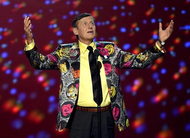 Craig Sager delivers an iconic speech at the ESPY Awards this summer. (Getty Images)