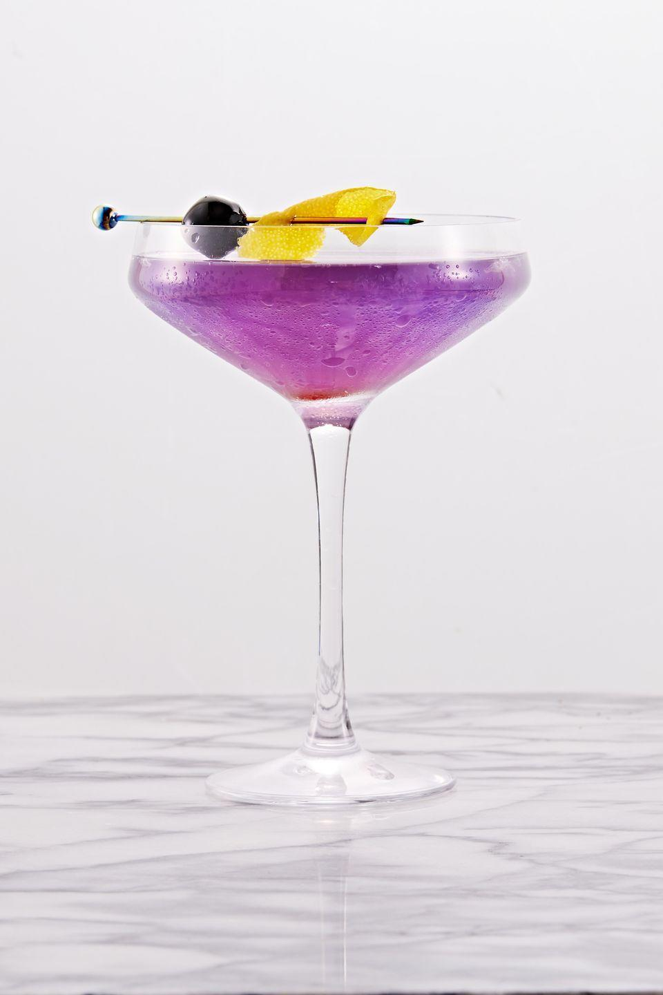 """<p>Perfectly purple.</p><p>Get the recipe from <a href=""""https://www.delish.com/cooking/recipe-ideas/a36940314/aviation-cocktail-recipe/"""" rel=""""nofollow noopener"""" target=""""_blank"""" data-ylk=""""slk:Delish"""" class=""""link rapid-noclick-resp"""">Delish</a>.</p>"""