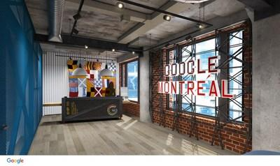Renderings of the future Google Montréal office at 425 Viger West, iN STUDIO Designs (CNW Group/Google Canada)