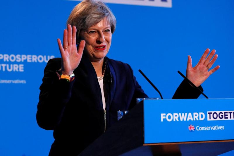 First manifesto: Prime Minister Theresa May (REUTERS)