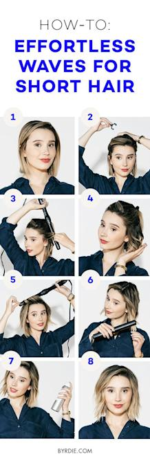 How To Create Effortless Waves For Short Hair A Tutorial