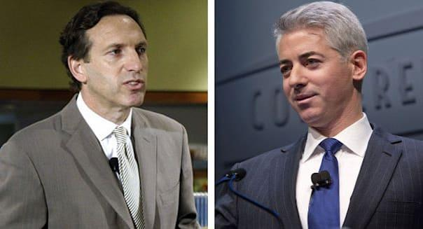 """<b class=""""credit"""">Getty Images</b>Starbucks Chairman Howard Schultz (left) and William """"Bill"""" Ackman, founder and chief executive officer of Pershing Square Capital Management."""