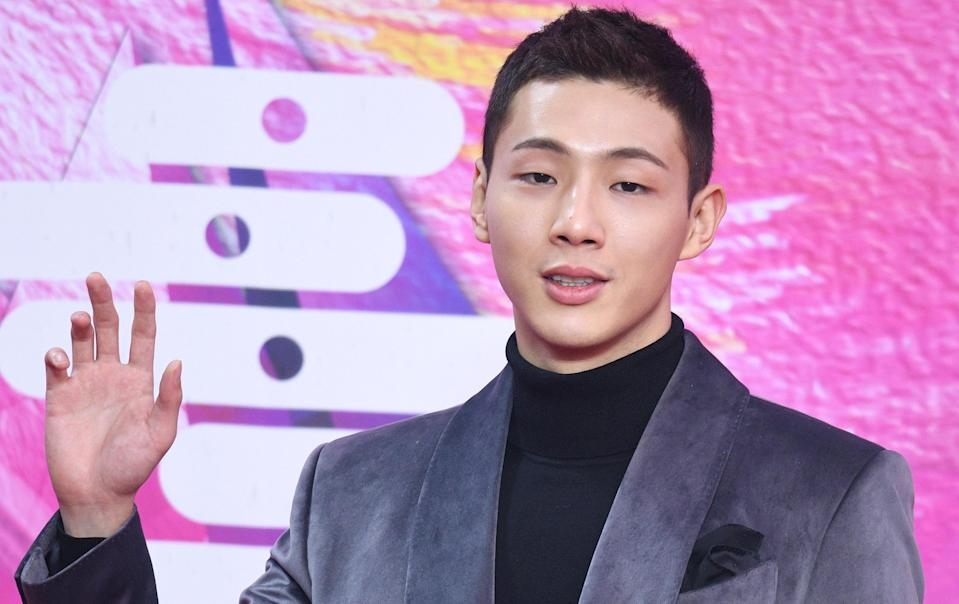 Image: Kim Ji Soo, known by his stage name Ji Soo, was recently dropped from a show after multiple people accused him of bullying.  (The Chosunilbo JNS / ImaZins via Getty Images file)