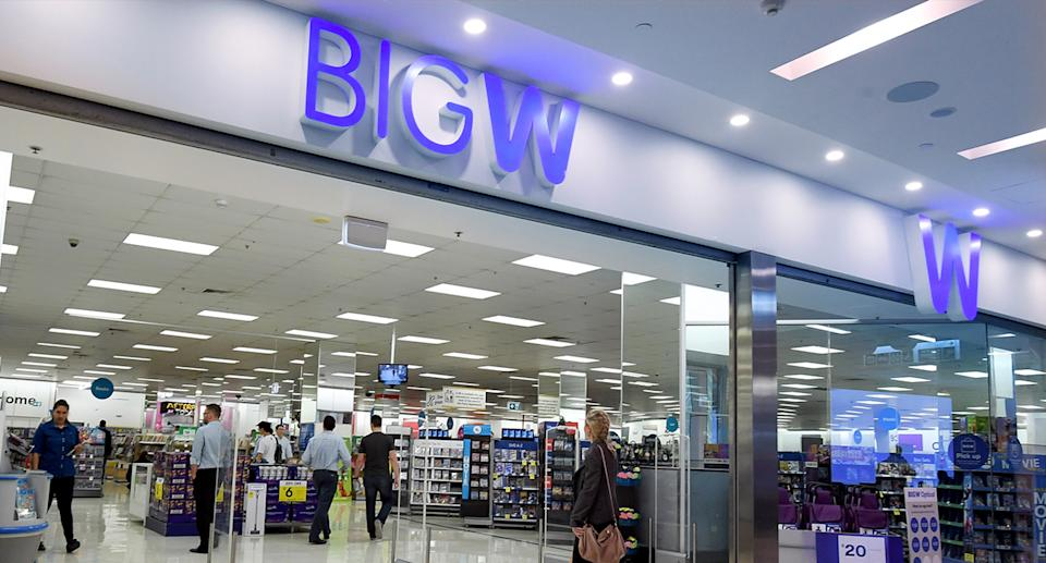 A Big W store is pictured.