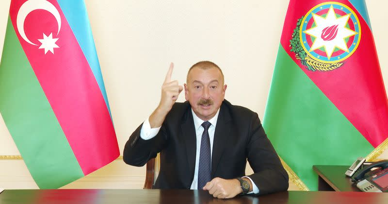 Azeri leader rules out concessions before Nagorno-Karabakh talks