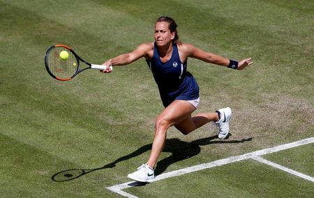 Tennis - WTA Premier - Nature Valley Classic - Edgbaston Priory Club, Birmingham, Britain - June 21, 2018 Czech Republic's Barbora Strycova in action during her second round match against Spain's Garbine Muguruza Action Images via Reuters/Ed Sykes