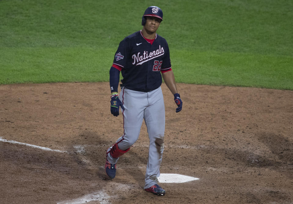 Juan Soto and the Nationals may not have that 2019 magic in them. (Photo by Mitchell Leff/Getty Images)