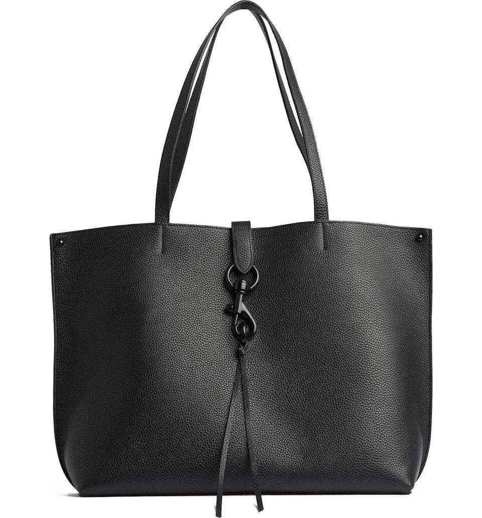 <p>This <span>Rebecca Minkoff Megan Leather Tote</span> ($198) is a classic. It's easy to get in and out of, but still has a clasp to make your belongings more secure.</p>