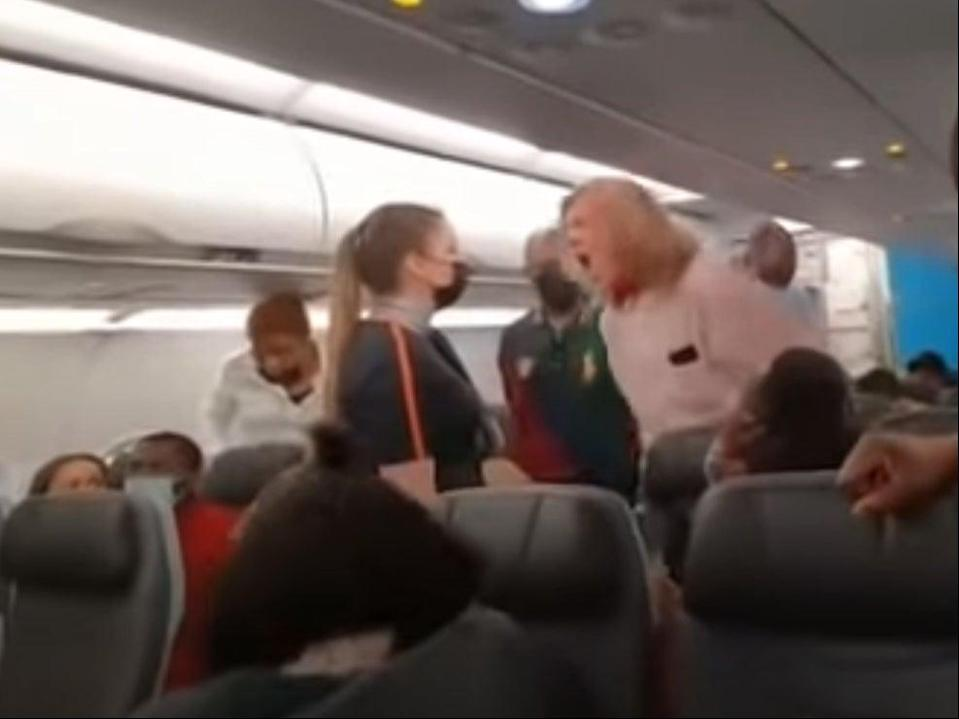 JetBlue passenger shouted racial slurs at others on board (YouTube/The Den Jamaica)