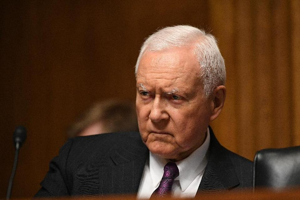 Senator Orrin Hatch urged the US Federal Trade Commission to reopen its antitrust review of Google which was closed in 2013 (AFP Photo/MANDEL NGAN)