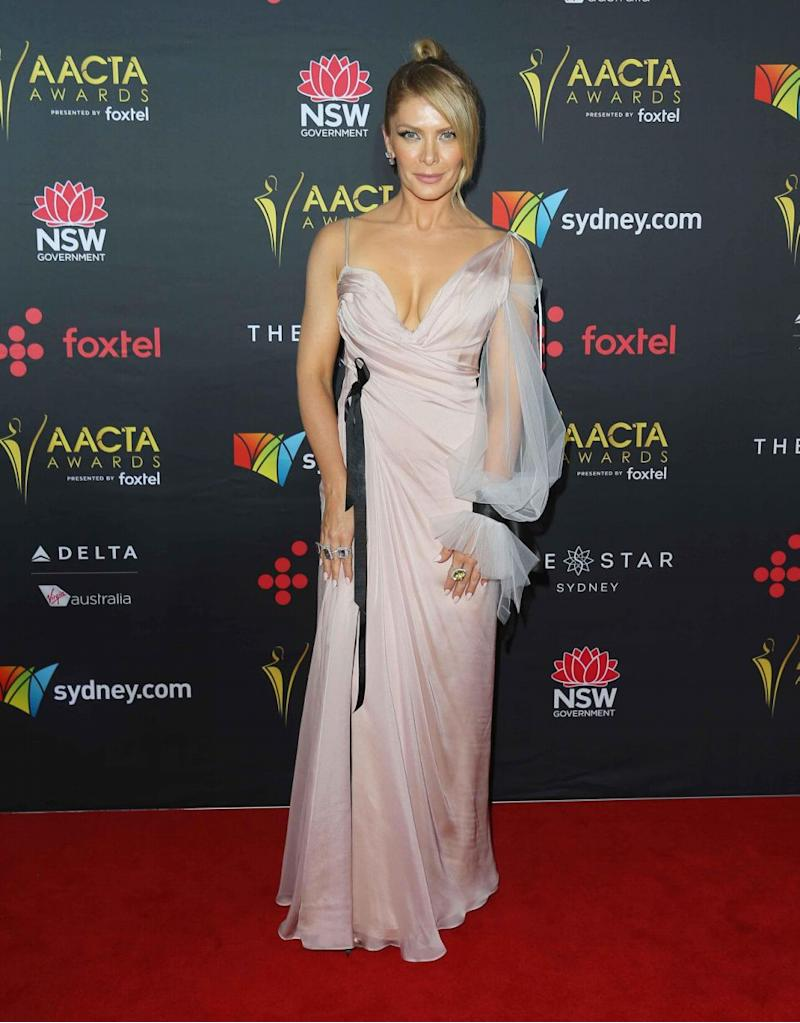 She was dressed to the nines in a gorgeous light pink gown. Source: Getty