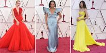 "<p class=""body-dropcap"">Hollywood's biggest night has finally arrived. </p><p class=""body-text"">Though the 93rd annual Academy Awards ceremony was originally postponed due to Covid-19 concerns, the Oscars were back last night — albeit on a much smaller scale.</p><p class=""body-text"">""It's not going to be like anything that's been done before, so we're leaning into that,"" said Steven Soderbergh, one of the ceremony's producers, in a prior <a href=""https://www.usatoday.com/story/entertainment/movies/2021/04/17/oscars-2021-producers-talk-pulling-off-red-carpet-masks/7269218002/"" rel=""nofollow noopener"" target=""_blank"" data-ylk=""slk:press conference"" class=""link rapid-noclick-resp"">press conference</a>. Stacey Sher, another producer, added, ""It's not a traditional (Oscar) red carpet, it's a teeny-tiny red carpet. It's a very small footprint for safety reasons, obviously.""</p><p class=""body-text"">Nevertheless, Hollywood veterans and newcomers brought their A-game to the red carpet. </p><p class=""body-text"">Here's a recap of all the fashion: </p>"