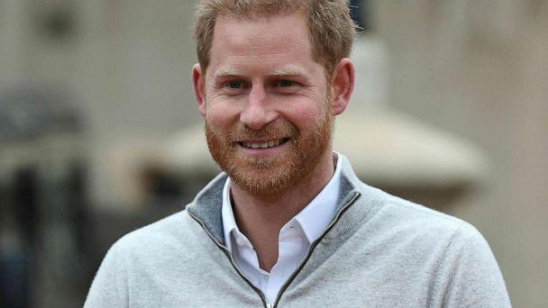 PHOTO: Prince Harry speaks at Windsor Castle in England, May 6, 2019, after his wife Meghan, the Duchess of Sussex gave birth to a baby boy. (Steve Parsons/AP)